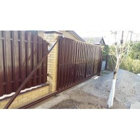 Ворота штахетник зашивання з двох сторін
