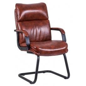 Офисное кресло на полозьях Дакота Richman 1010х610х700 мм коричневый кожзам