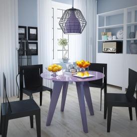 Кухонный стол Leonardo Sentenzo 760х900 мм стеклянный