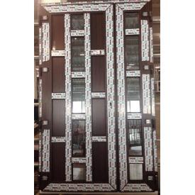 Двери металлопластиковые входные 1200х2050 мм