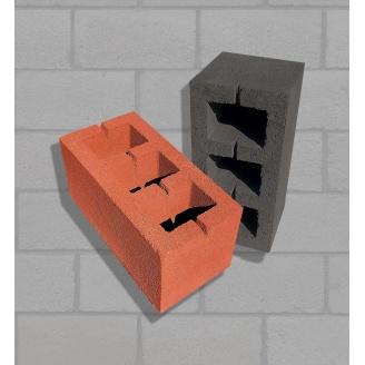 Блок будівельний кольоровий 19х19х39 см