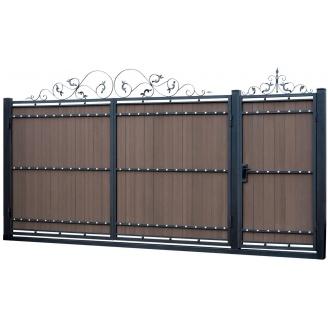 Кованые ворота Вт-101 3500х1950 мм