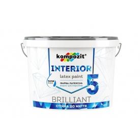 Інтерєрна латексна фарба Kompozit INTERIOR 5 матова 1,4 л сніжно-білий