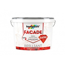 Фасадна фарба Kompozit FACADE LATEX матова 1,4 л білий
