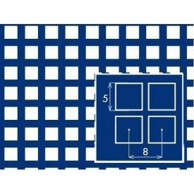 Перфорированный лист PC Qg5 8х1х1000x2000 мм черный