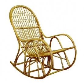 Плетенное кресло-качалка КК-4 ЧФЛИ 600х650х1200 мм из лозы для сада