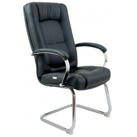 Офісне крісло Richman Альберто Хром-CF 1050х780-650 мм чорний
