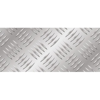 Лист алюминиевый рифленый 2000х1000х1 мм