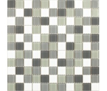 Скляна мозаїка Керамік Полісся Сірий мікс 300х300х4 мм