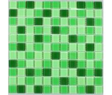 Скляна мозаїка Керамік Полісся Грін Мікс 2 300х300х4 мм