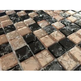 Стеклянная мозаика Керамик Полесье Gretta Beige Mix 300х300х6 мм