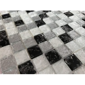 Стеклянная мозаика Керамик Полесье Gretta White Mix 300х300х6 мм