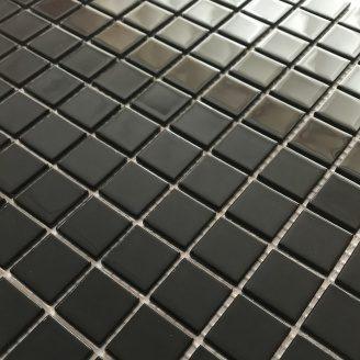 Скляна мозаїка Керамік Полісся Неро 300х300х4 мм