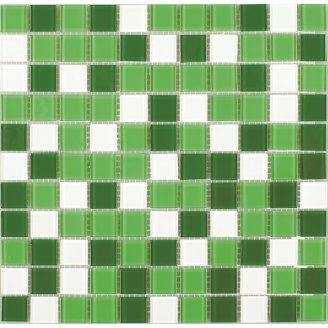 Скляна мозаїка Керамік Полісся Грін Мікс 1 300х300х4 мм