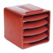 Вентиляційний куб VILPE 85х85х85 мм червоний