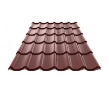 Металлочерепица Ruukki RanTech M 39 PM polyester matt шоколадный