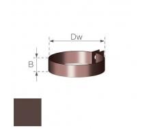Хомут труби металлический Gamrat 90х160 мм коричневый