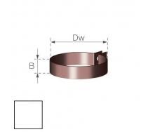 Хомут водосточной труби Gamrat 110 мм белый