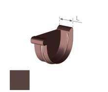 Заглушка левая Gamrat 100 мм коричневая