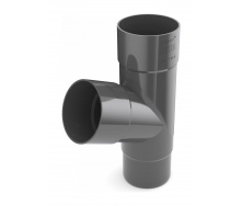 Тройник трубы Bryza 150 310х110,4х110,4х104,5 мм графит