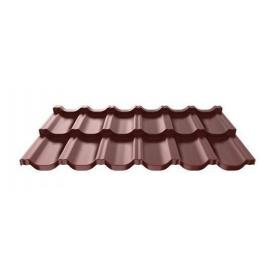 Металочерепиця Ruukki Finnera модульна 685х1190х0,5 мм шоколадний