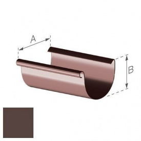 Ринва Gamrat 125 мм 3 м коричнева