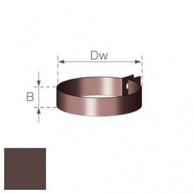 Хомут водостічної труби Gamrat 90 мм коричневий
