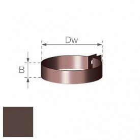 Хомут водостічної труби Gamrat 110 мм коричневий