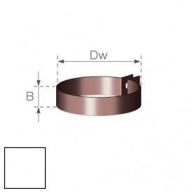 Хомут водостічної труби Gamrat 110 мм білий