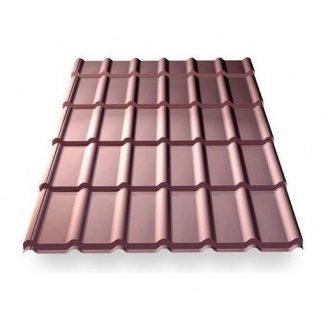 Металлочерепица Ruukki RanTech DG 43 P polyester шоколадный