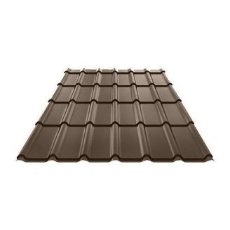 Металочерепиця Ruukki Decorrey Polyester 0,5 мм темно-коричневий