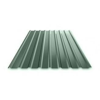 Профнастил Ruukki Т15 Polyester Matt фасадний 13,5 мм темно-зелений