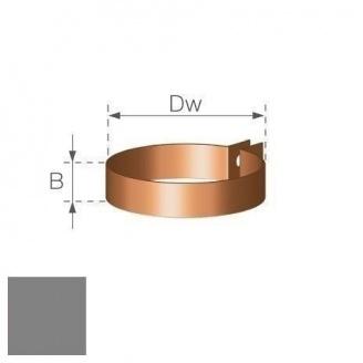 Хомут водостічної труби Gamrat 90 мм срібний