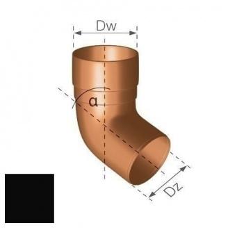 Колено Gamrat 67,5° 63 мм черное