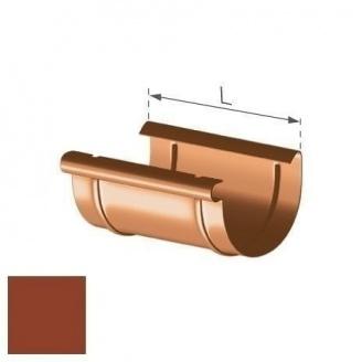 Муфта желоба Gamrat 125 мм кирпичная