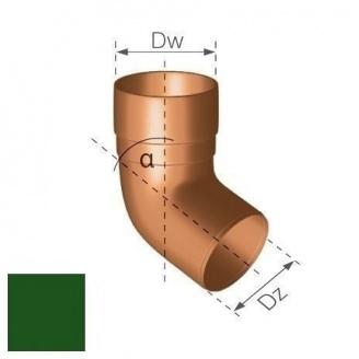 Колено Gamrat 67,5° 90 мм зеленое