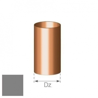Труба Gamrat 90 мм 3 м серебряная