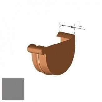 Заглушка правая Gamrat 125 мм серебряная