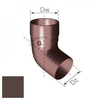 Колено Gamrat 67,5° 90 мм коричневое