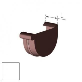 Заглушка правая Gamrat 125 мм белая