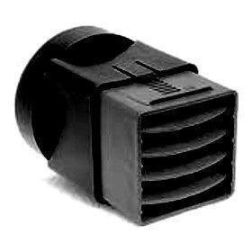Адаптер до вентиляционного куба VILPE 110х100 мм черный