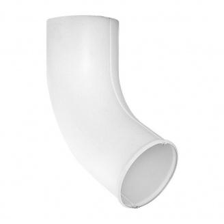 Сливное колено Акведук Стандарт 87/70 белый RAL 9003