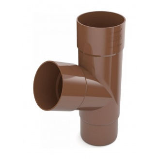 Тройник трубы Bryza 150 310х110,4х110,4х104,5 мм коричневый