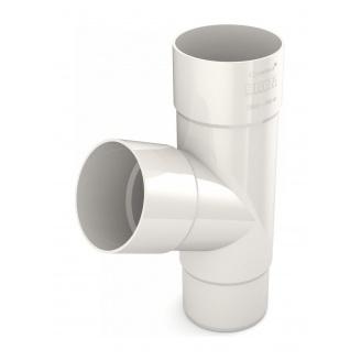 Тройник трубы Bryza 150 310х110,4х110,4х104,5 мм белый