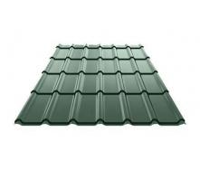 Металлочерепица Ruukki Decorrey Polyester 0,5 мм темно-зеленый