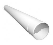 Труба водосточная Ruukki 90 мм 1 м белый