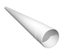 Труба водосточная Ruukki 90 мм 2,5 м белый