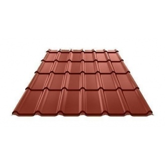 Металлочерепица Ruukki Decorrey Polyester 0,5 мм красный