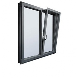 Вікно з холодного алюмінію HOFFMANN 45 1300х1400 мм