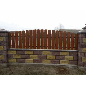 Металлический забор 0,45 мм